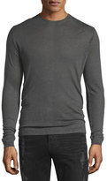 IRO Nafa Long-Sleeve Crewneck Shirt, Dark Gray