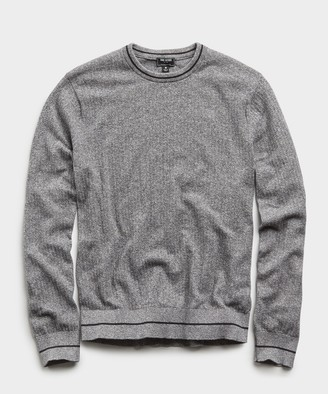 Todd Snyder Textured Tipped Sweater in Heather Grey