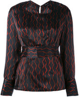 Isabel Marant patterned blouse - women - Silk - 36