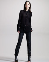 Ann Demeulemeester Jersey-Top Leather Leggings