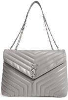 Saint Laurent Monogram Quilted Leather Slouchy Shoulder Bag