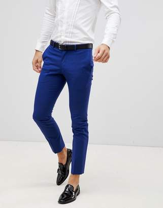 Selected skinny fit suit trousers-Blue
