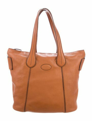 Tod's Pebbled Leather Tote Brown