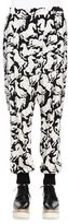 Stella McCartney Horse-Print Silk Harem Pants, Black
