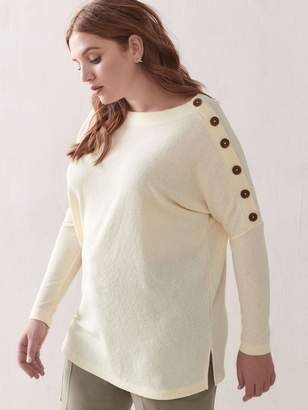 Addition Elle Dolman-Sleeve Button Top