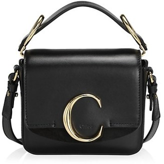 Chloé Mini C Leather Crossbody Bag