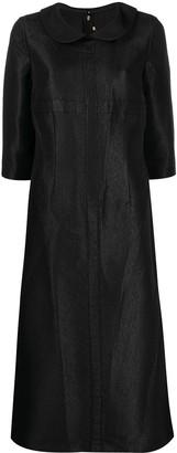 Comme des Garçons Comme des Garçons Textured Short-Sleeved Midi Dress