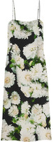 ADAM by Adam Lippes Floral-print Crepe Slip Dress - Green