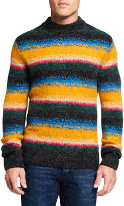 Scotch & Soda Men's Striped Jacquard Crewneck Sweater