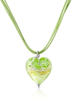 Murano House of Mare - Lime Glass Heart Pendant Necklace