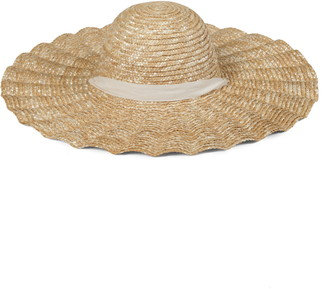 LACK OF COLOR Scalloped Dolce Straw Hat