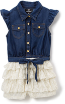 Dollhouse Dark Indigo Wash Denim Romper - Infant & Girls