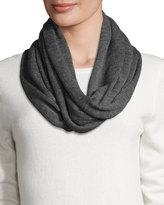 Portolano Merino Wool Infinity Scarf, Gray