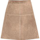 River Island Womens Beige premium suede A-line skirt
