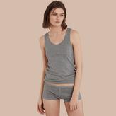 Burberry Stretch Cotton Lyocell Vest , Size: XS, Grey