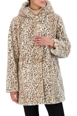 Sebby Collection Hooded Faux Fur Coat