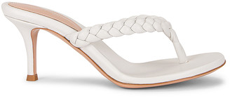 Gianvito Rossi Braid Thong Sandals in White   FWRD