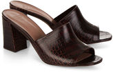 Maryam Nassir Zadeh Chocolate Croc Embossed Mar Mules