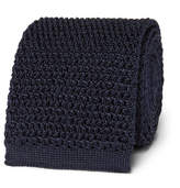 Tom Ford 7.5cm Knitted Silk Tie - Navy