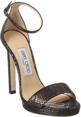 Jimmy Choo Misty 120 Leather Sandal