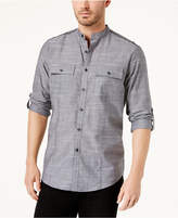 INC International Concepts I.n.c. Men's Chambray Band-Collar Shirt, Created for Macy's