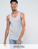 Asos TALL Muscle Tank In Gray Marl