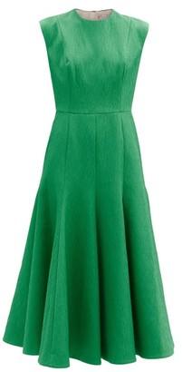 Emilia Wickstead Denver Sleeveless Cloque Midi Dress - Green
