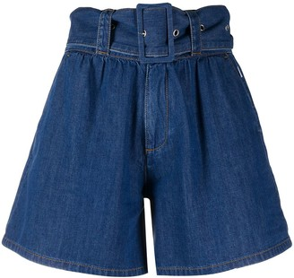 MSGM high-waisted belted shorts