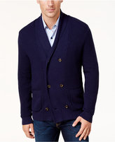 Tasso Elba Men's Double-Breasted Cardigan, Created for Macy's