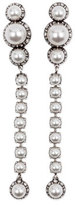 Lanvin Pearly Linear Drop Earrings, White