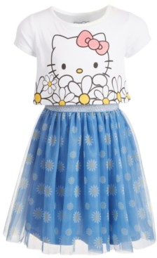 Hello Kitty Toddler Girls Oversized Daisy Layered-Look Dress