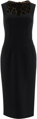 Dolce & Gabbana MIDI PENCIL DRESS 40 Black Wool
