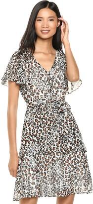 Sharagano Women's Vneck Printed Chiffon Dress