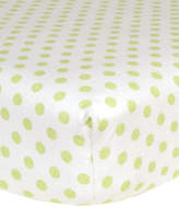 Trend Lab Sage Dot Flannel Fitted Crib Sheet