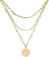 ela rae Starburst Triple Layered Chain Necklace