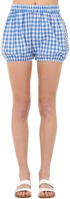 Dodo Bar Or Checked Cotton & Lace Shorts