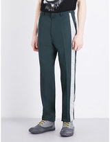 Lanvin Satin Trim-detail Leisure-fit Wool Trousers
