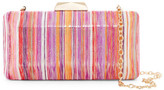 Sondra Roberts Metallic Striped Convertible Clutch