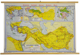 Rejuvenation Mid-Century Denoyer-Geppert Map of Alexanders Empire c1958