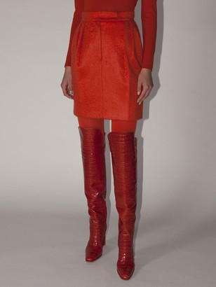Max Mara Lvr Exclusive Mohair Boucle Mini Skirt