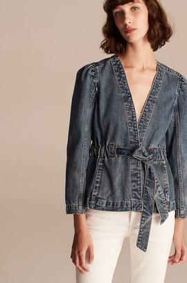 Rebecca Taylor La Vie Classic Indigo Denim Tie Jacket