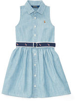 Ralph Lauren 2-6X Cotton Chambray Shirtdress