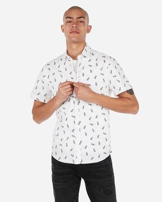 Express Slim Pineapple Short Sleeve Shirt