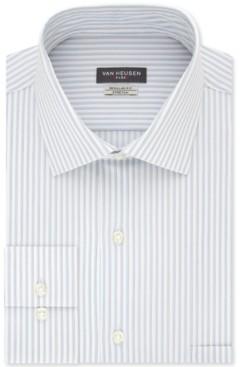 Van Heusen Men's Classic/Regular-Fit Non-Iron Performance Stretch Stripe Flex Collar Dress Shirt