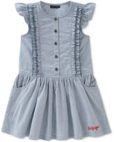 Tommy Hilfiger Ticking Striped Denim Dress, Little Girls