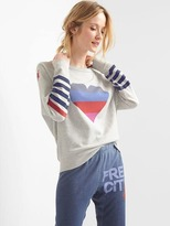 Gap FREE CITY® x heart sweatshirt