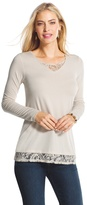 Chico's Angie Lace-Detail Top