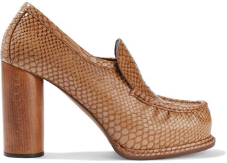 Stella McCartney Faux Snake-effect Leather Pumps
