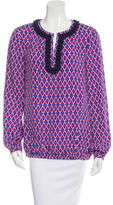 Tory Burch Patterned Silk Top