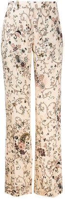 Etro Paisley-Print Flared Trousers